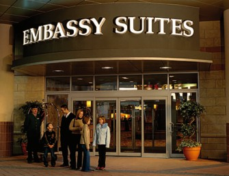 Embassy Suites Hotel Entrance
