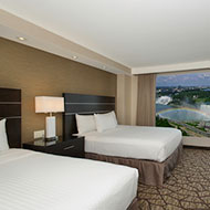 Embassy Suites by Hilton Niagara Falls Fallsview - 2 Queen Beds - Canadian & US Fallsview Suite - 10th - 15th Floor